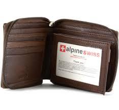 picture of Alpine Swiss Men's Zippered Wallet Sale