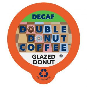 picture of Double Donut Decaf Glazed Donut Flavored Coffee K-Cups 80 Count