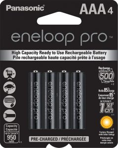 picture of Panasonic eneloop pro AAA High Capacity Ni-MH Pre-Charged Rechargeable Batteries