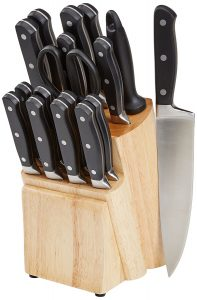 picture of AmazonBasics Premium 18-Piece Knife Block Set