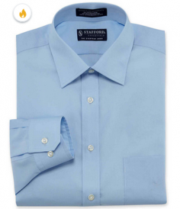 picture of Stafford Travel Easy-Care Broadcloth Dress Shirt Sale
