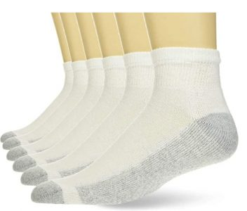 picture of Hanes Men's 6-Pack Cushioned Ankle and Reinforced Heel and Toe Ankle Socks Sale