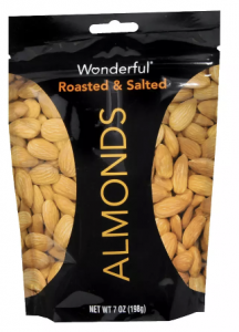 picture of Wonderful Almonds Roasted & Salted 7.0 oz. Sale