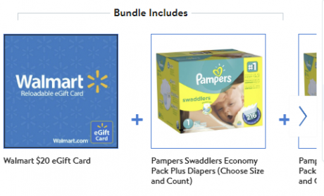 picture of Pampers Swaddlers Diapers 2-Pack Economy Plus Bundle with Bonus $20 eGift Card