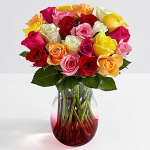 picture of 2 Dozen Roses with Vase Sale
