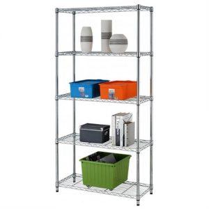 picture of 5 Shelf Adjustable Steel Wire Metal Shelving Rack Sale