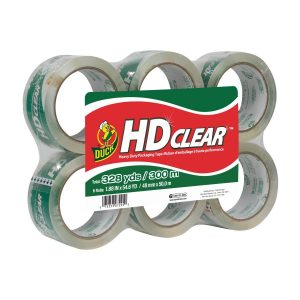 picture of Duck HD Clear Heavy Duty Packaging Tape Refill, 6 Rolls Sale
