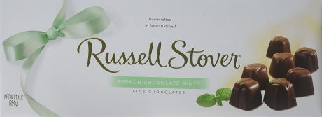 picture of Russell Stover French Chocolate Mints Box, 10 Ounce
