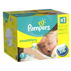 picture of Sample of Pampers Swaddlers Diapers (Sizes 2, 3 & 4)