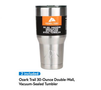 picture of Ozark Trail 2 Pack of 30-Ounce Double-Wall Tumbler Sale