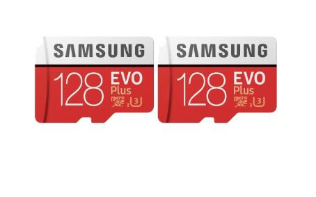 picture of Two Samsung 128GB EVO microSDXC Card Sale