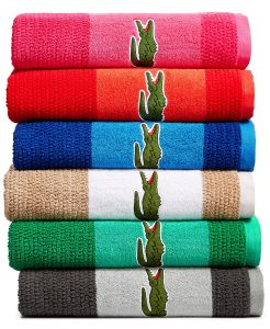 Lacoste Match Cotton Colorblocked Bath Towel 13 99 Free Shipping