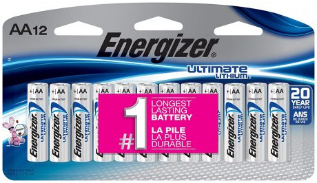 picture of Energizer Ultimate Lithium AA Batteries, 12 Count Sale