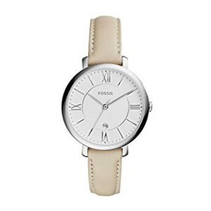 picture of Fossil Jacqueline Silvertone Leather Watch Sale