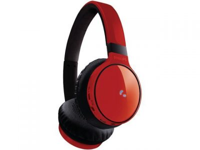 picture of Philips SHB9100 Wireless Bluetooth On-Ear Headphones - Red