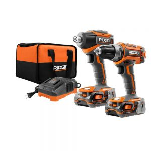 picture of Rigid 18V Lithium Drill/Drive Combo Kit + 4 Batteries Bundle