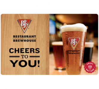 picture of $50 BJ's Restaurants Gift Card for $40 - Email Delivery