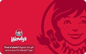 picture of $55 Wendy's Physical Gift Card For Only $50 - Free Shipping