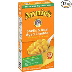 picture of Annie's Macaroni and Cheese, Shells and Aged Cheddar, 6 oz Box (Pack of 12) Sale