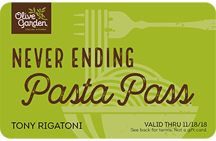 picture of Olive Garden Never Ending Pasta Pass