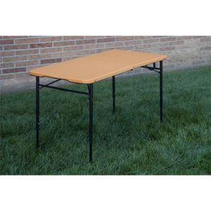 picture of Cosco 4' Indoor Outdoor Adjustable Height Center Fold Tailgate Table Sale