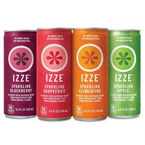 picture of IZZE 4 Flavor Sampler Variety Pack, 8.4oz Cans (Pack of 12) Sale