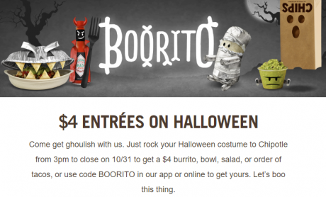 picture of Chipotle Halloween $4 Burrito, Bowl, Taco, or Salad