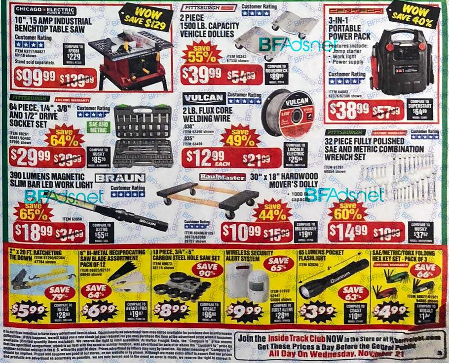 Harbor Freight Black Friday 2018 Ad