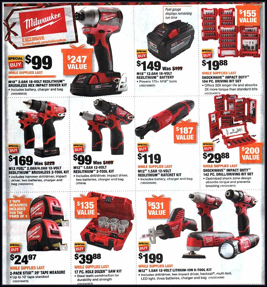 Home Depot Black Friday 2018 Ad