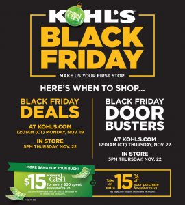 picture of Black Friday 2018: Kohl's Ad Scan