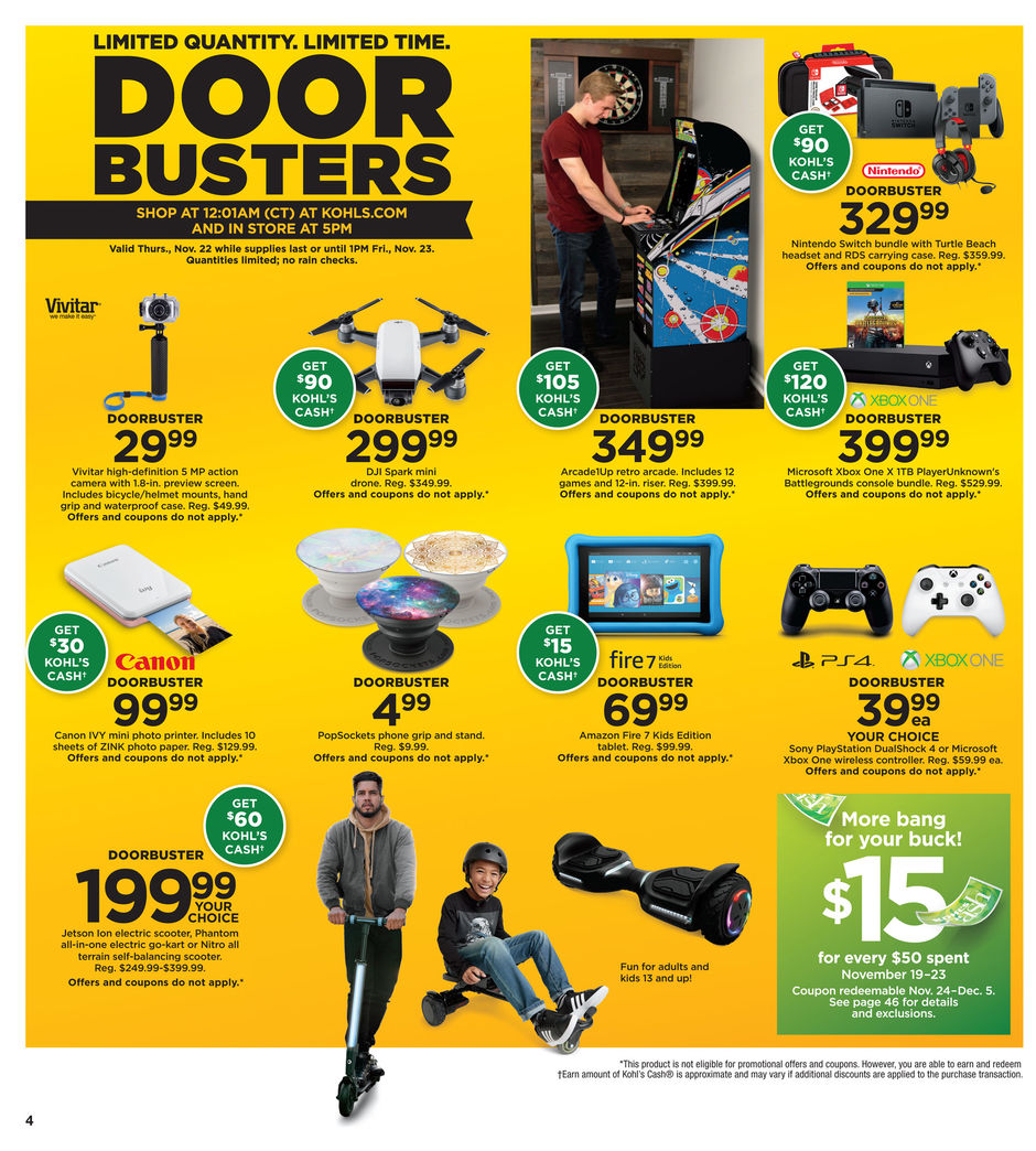 Black Friday 2018: Kohl's Ad Scan