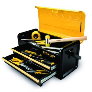 picture of Stanley Tools and Consumer Storage Metal Box with 2 Drawers, 19