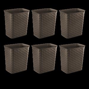 picture of Sterilite 3.4-gallon Weave Wastebasket 6-pk Sale