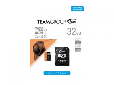 picture of Team 32GB microSDHC UHS-I/U1 Class 10 Memory Card with Adapter