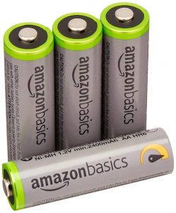 picture of 4-Pack of AmazonBasics AA NiMH Precharged Rechargeable Battery Sale