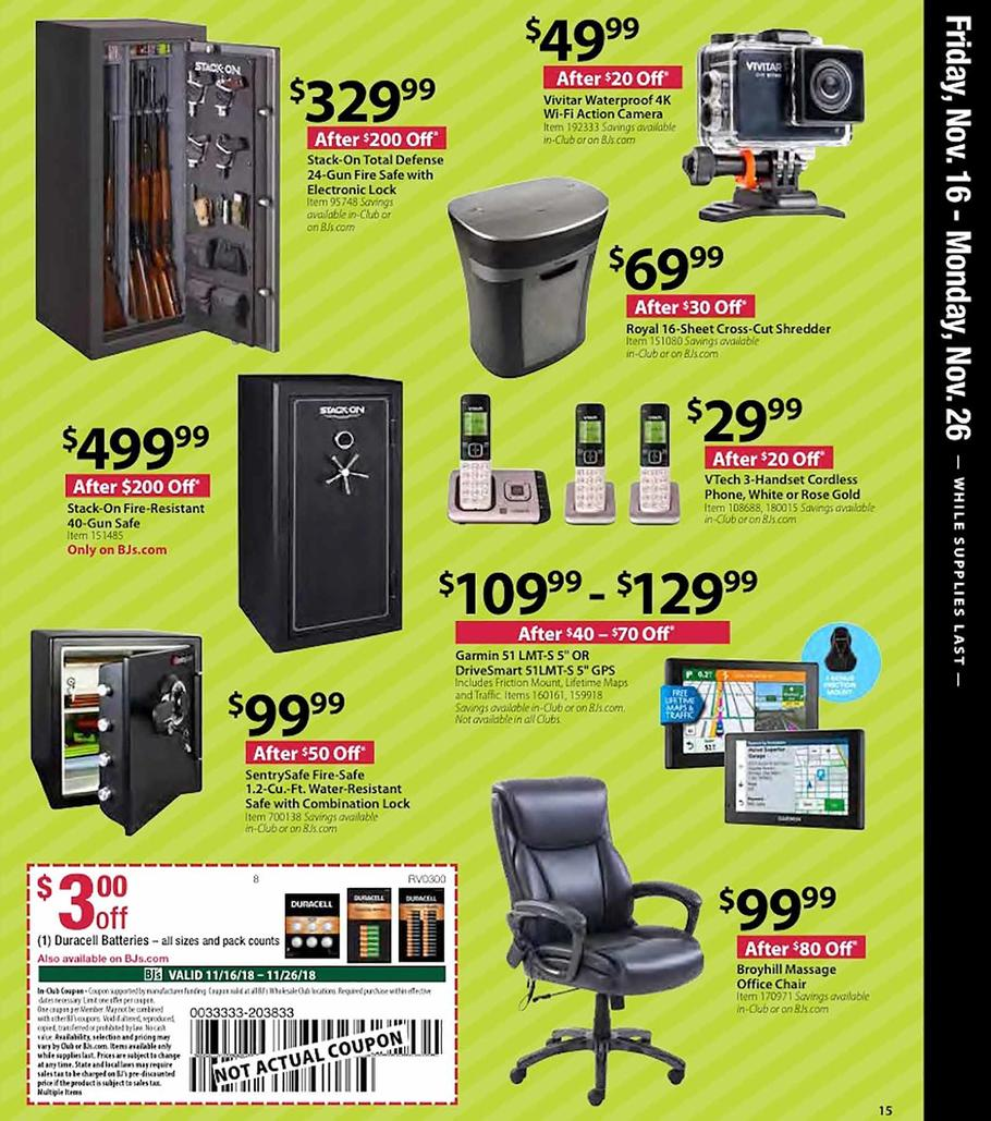 BJs Wholesale Black Friday 2018 Ad