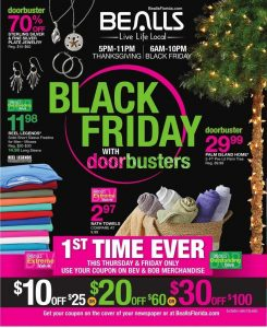 picture of Black Friday 2018: Bealls Florida Ad Scan