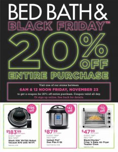 picture of Black Friday 2018: Bed Bath and Beyond Ad Scan
