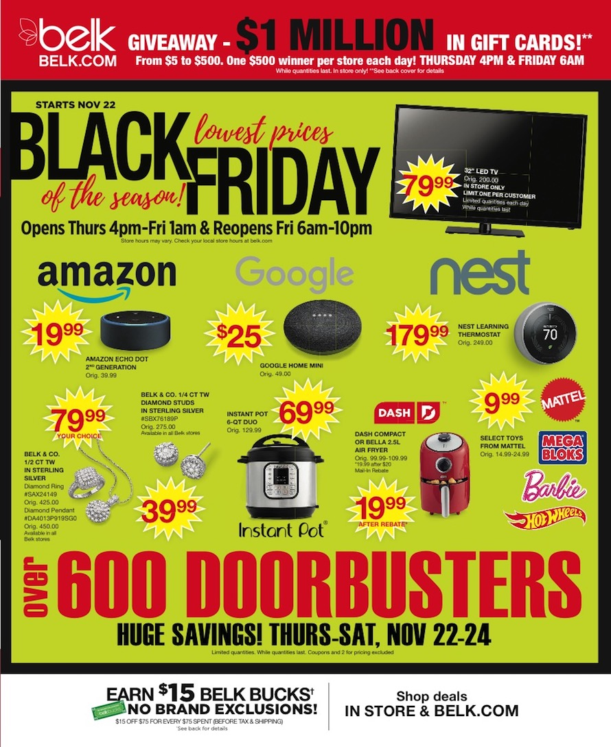 Belk Black Friday Ad