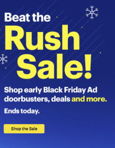 picture of Best Buy Beat the Rush Black Friday Sale