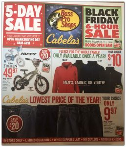 picture of Black Friday 2018: Cabelas Ad Scan