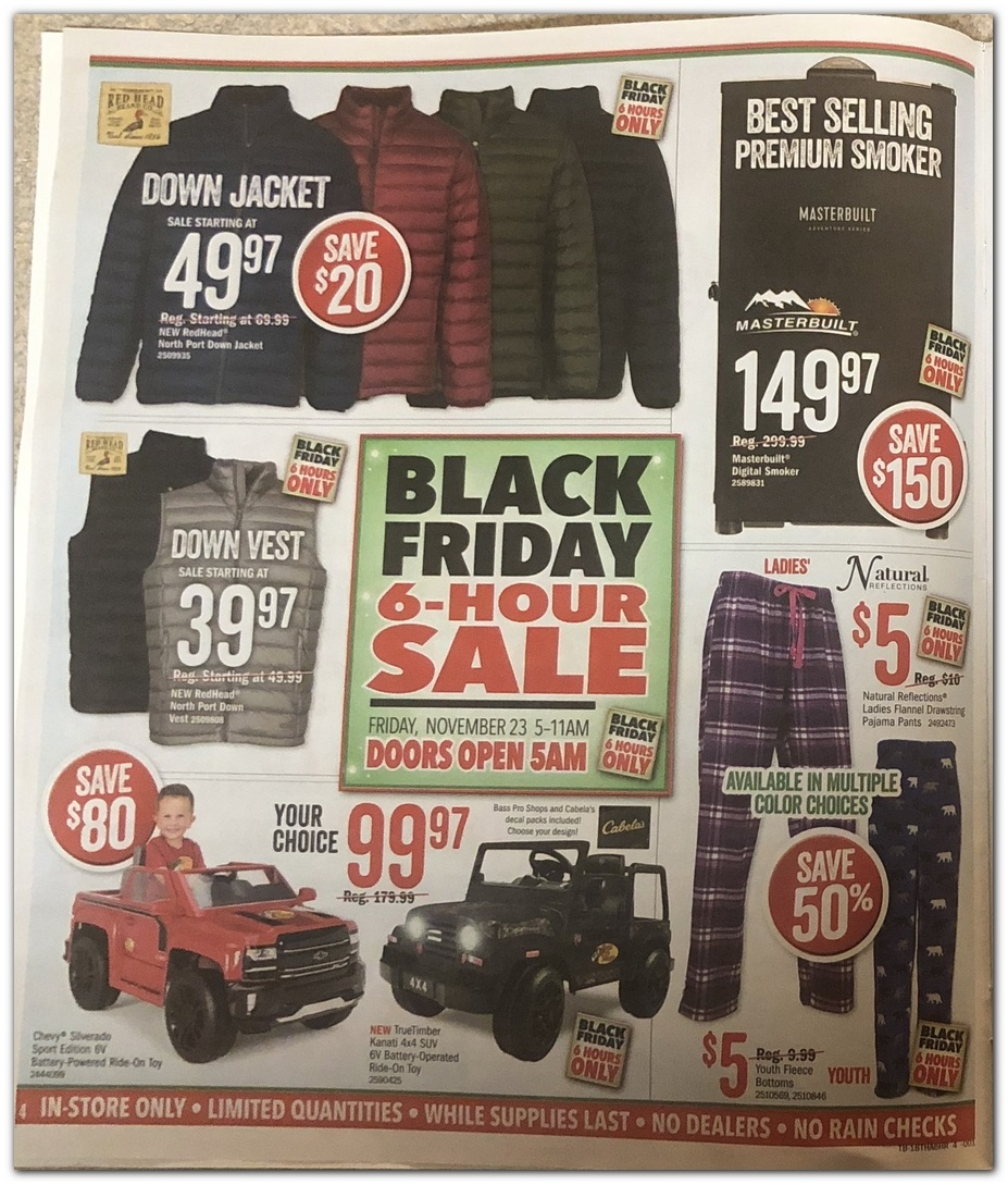 Cabelas Black Friday 2018 Ad