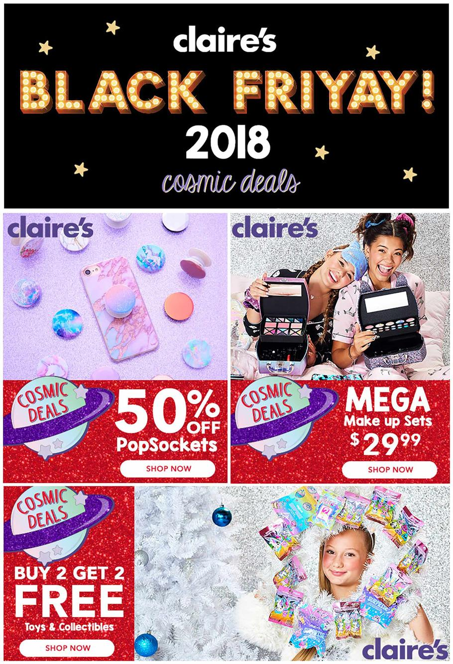 Claires Black Friday 2018