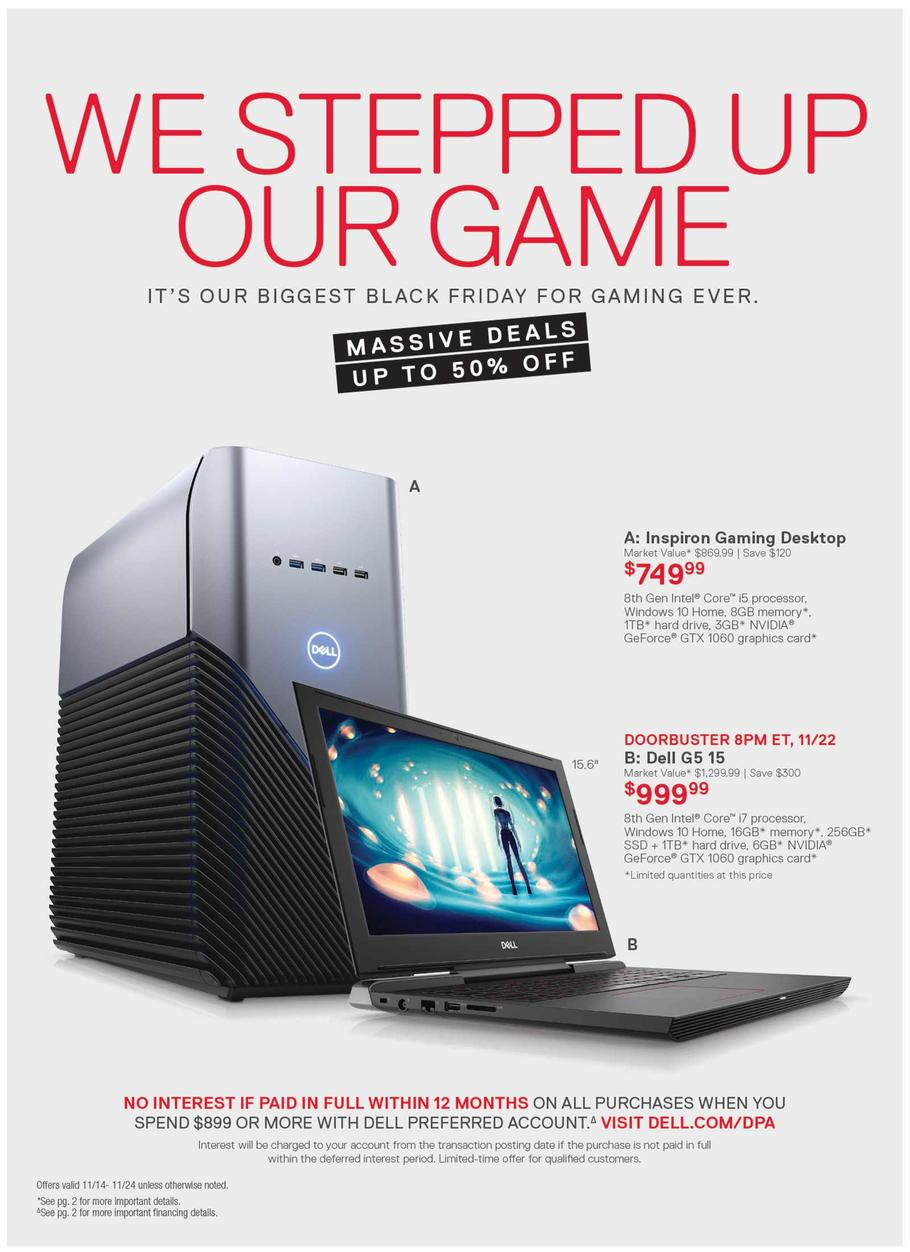 Dell Black Friday Ad 2018