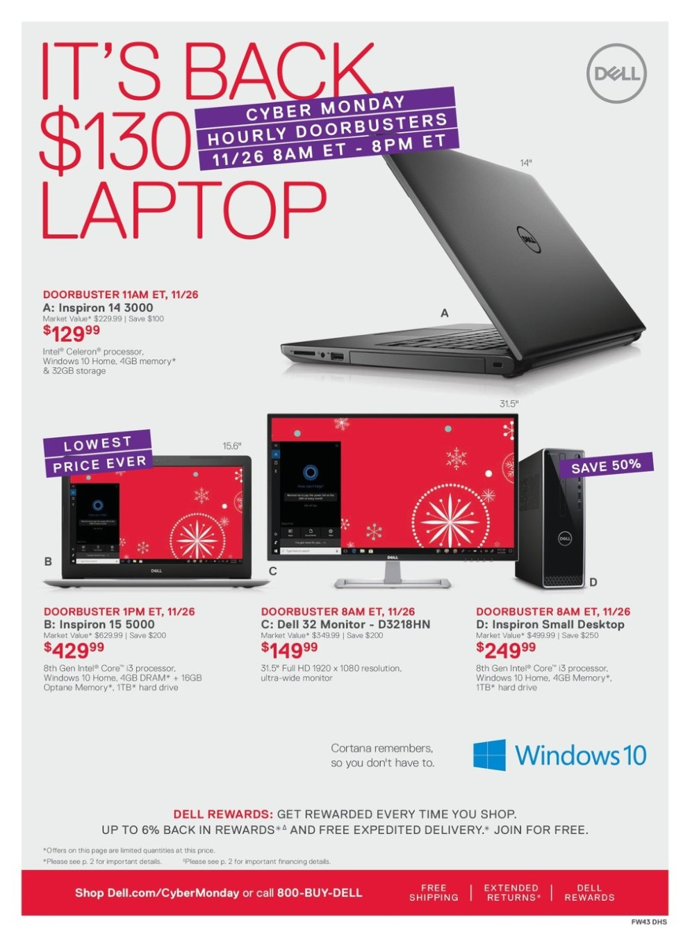 Dell Cyber Monday 2018 Ad