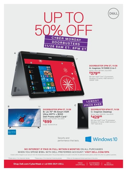 Dell Cyber Monday 2018 Ad