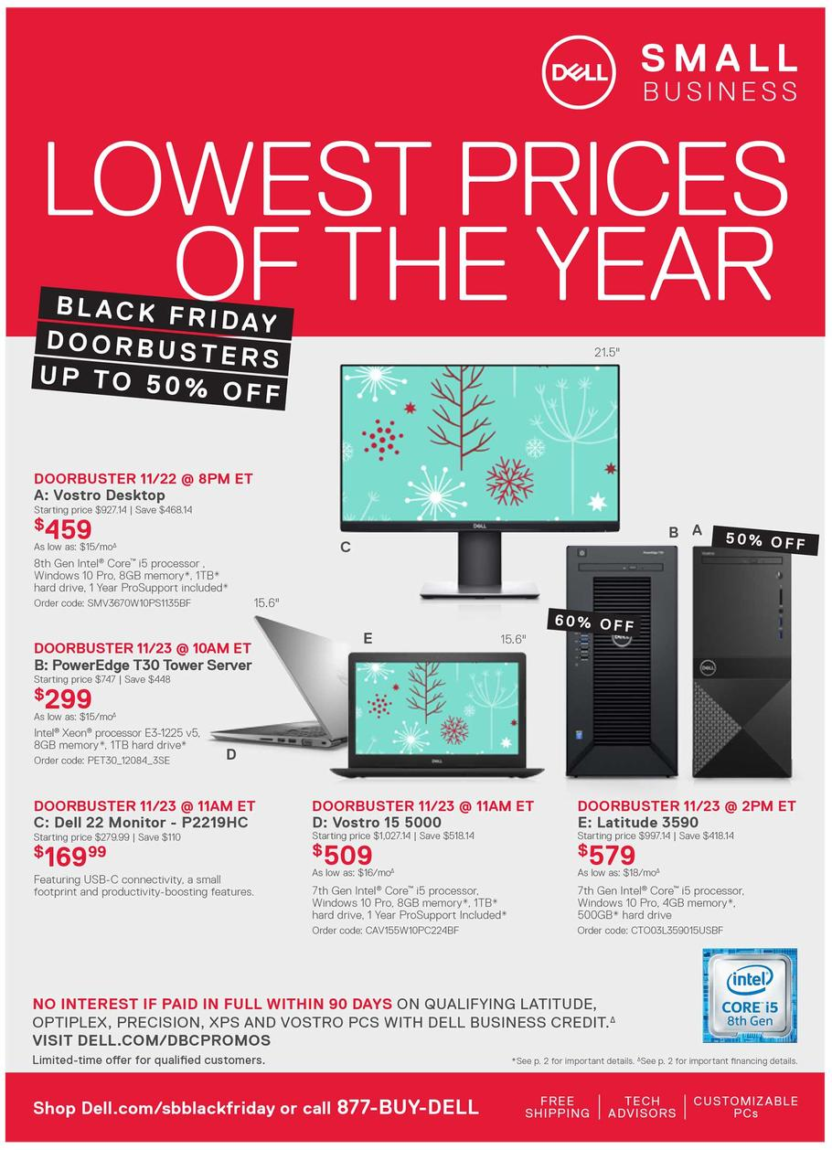 Dell Small Business Black Friday Ad 2018