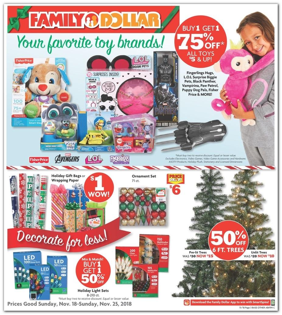 Family Dollar Black Friday 2018 Ad