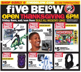 picture of Black Friday 2018: Five Below Ad Scan