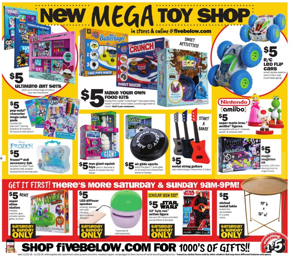 five below Black Friday 2018 Ad